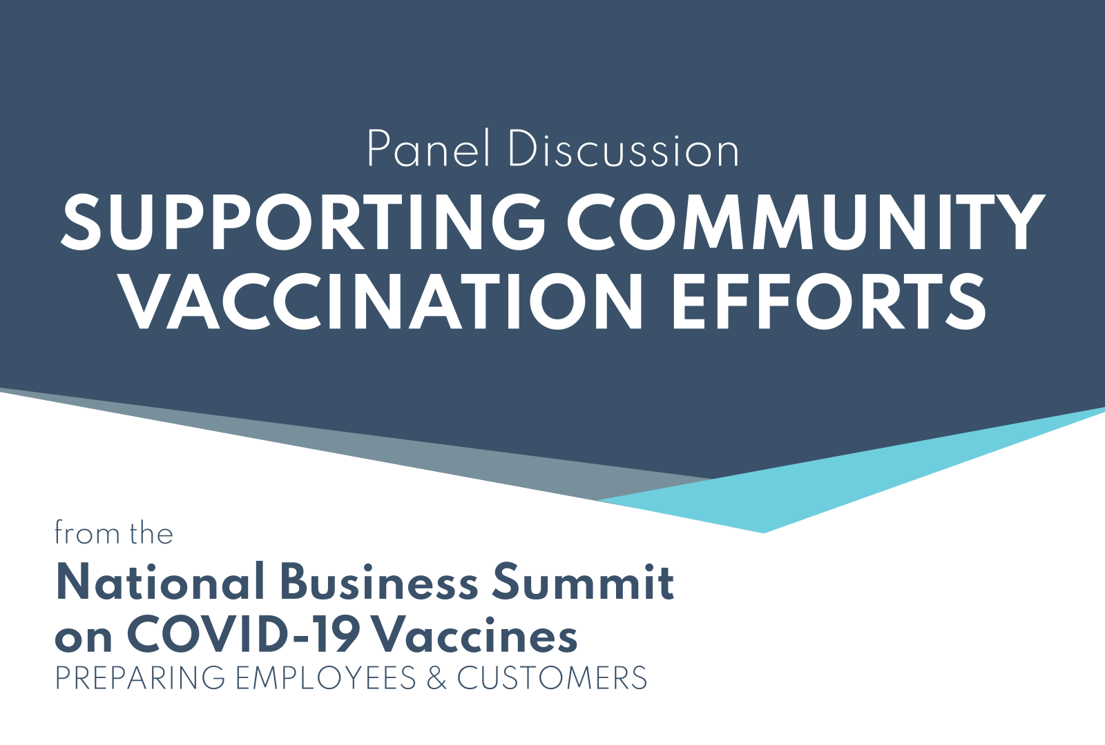 Supporting Community Vaccination Efforts