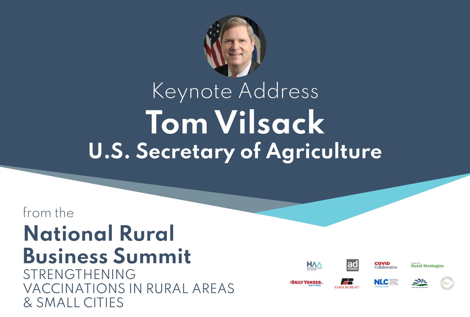 U.S. Secretary Tom Vilsack Keynote