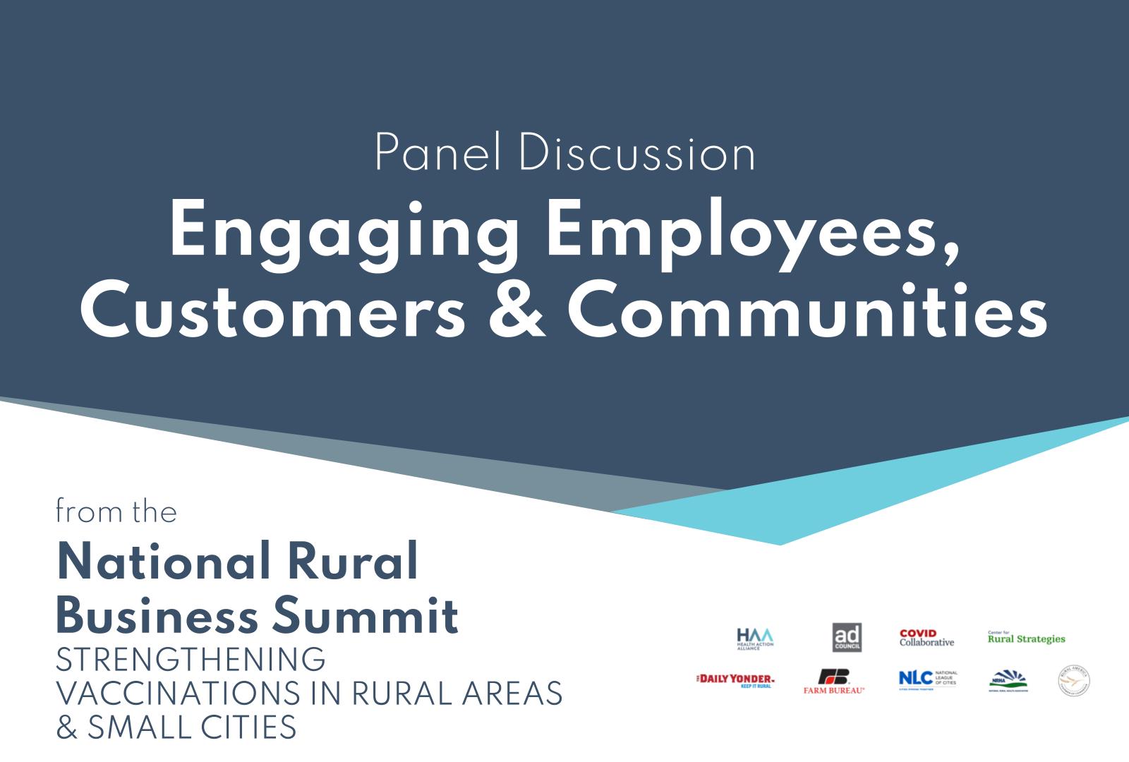 Engaging Employees, Customers & Communities