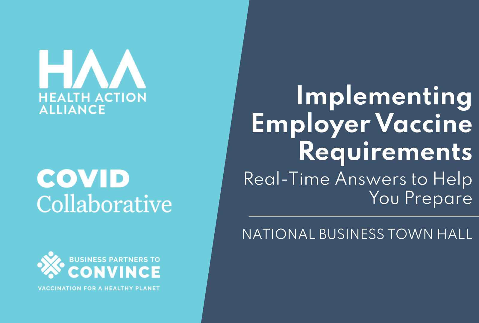 National Business Town Hall: Implementing Employer Vaccine Requirements