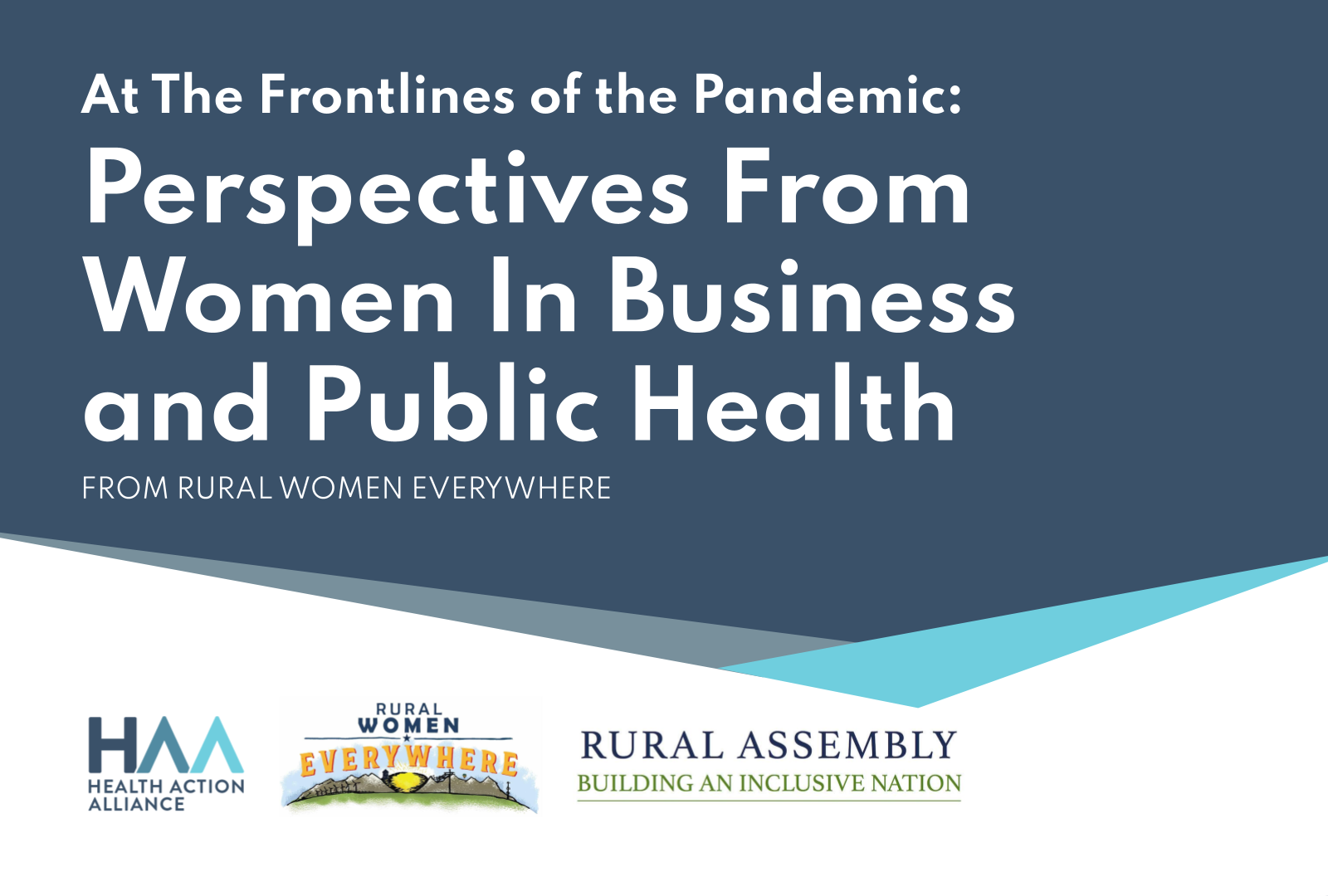 At The Frontlines of the Pandemic: Perspectives From Women In Business and Public Health