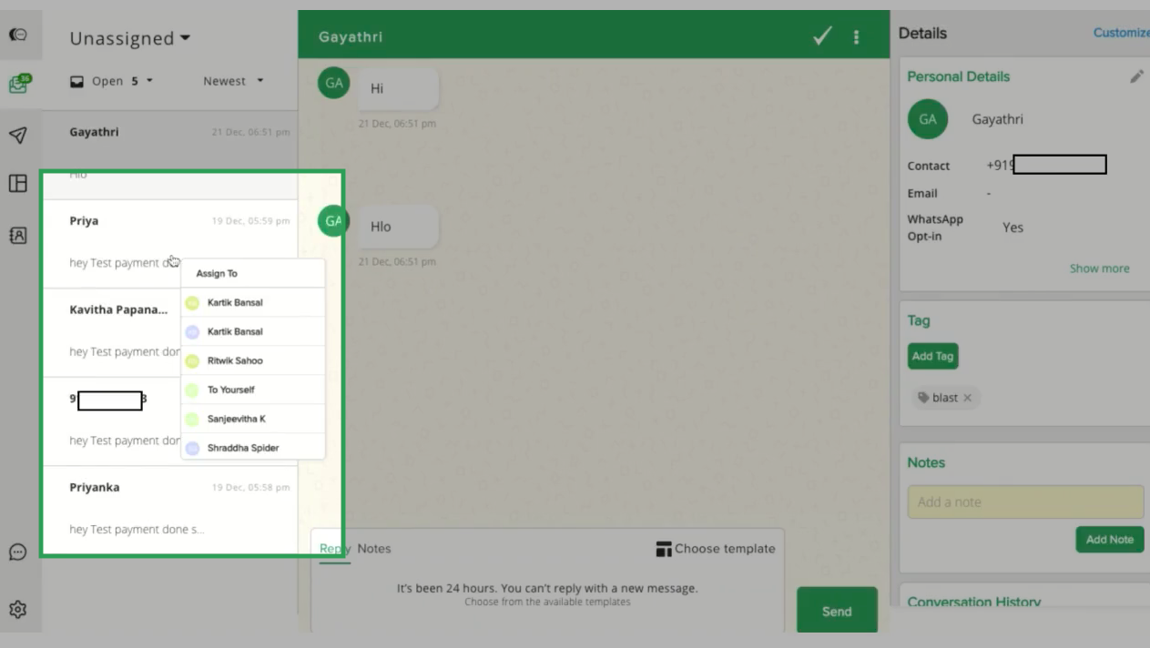 Built for Teams: interakt's Shared Inbox For WhatsApp