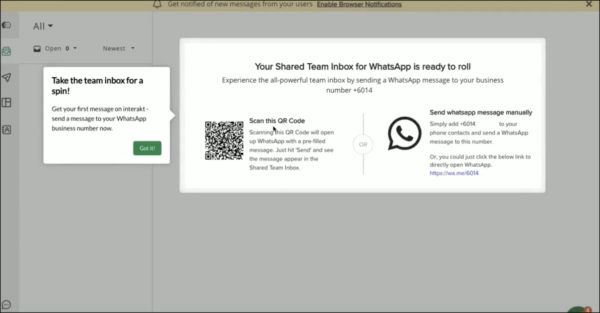 How to get started with WhatsApp Business API on interakt?