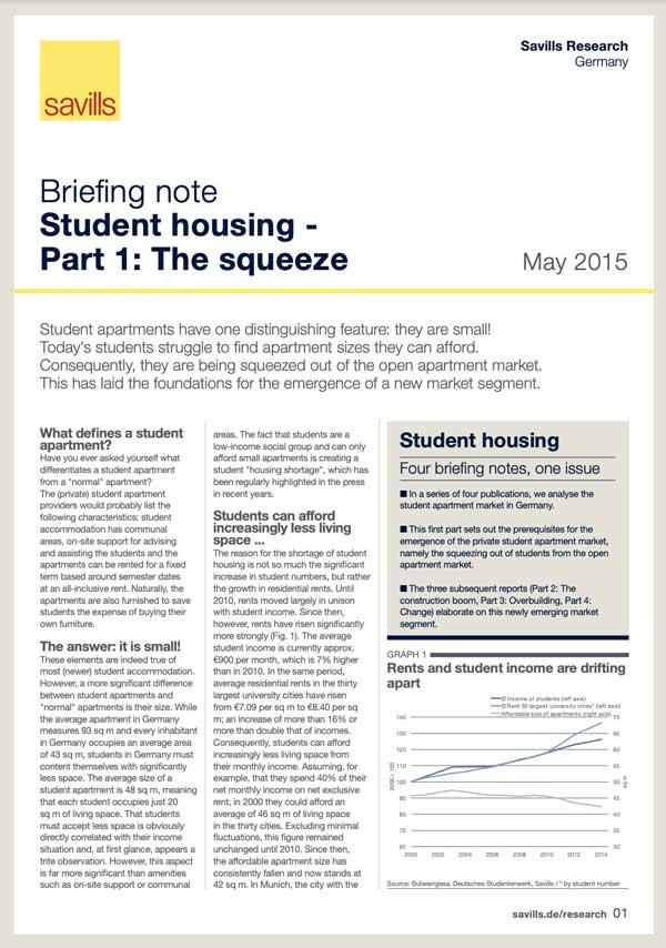 Student Housing in DE - Part 1: The Squeeze