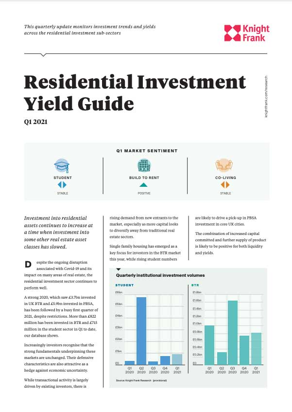 UK Residential Investment – Yield Guide - Q1 2021