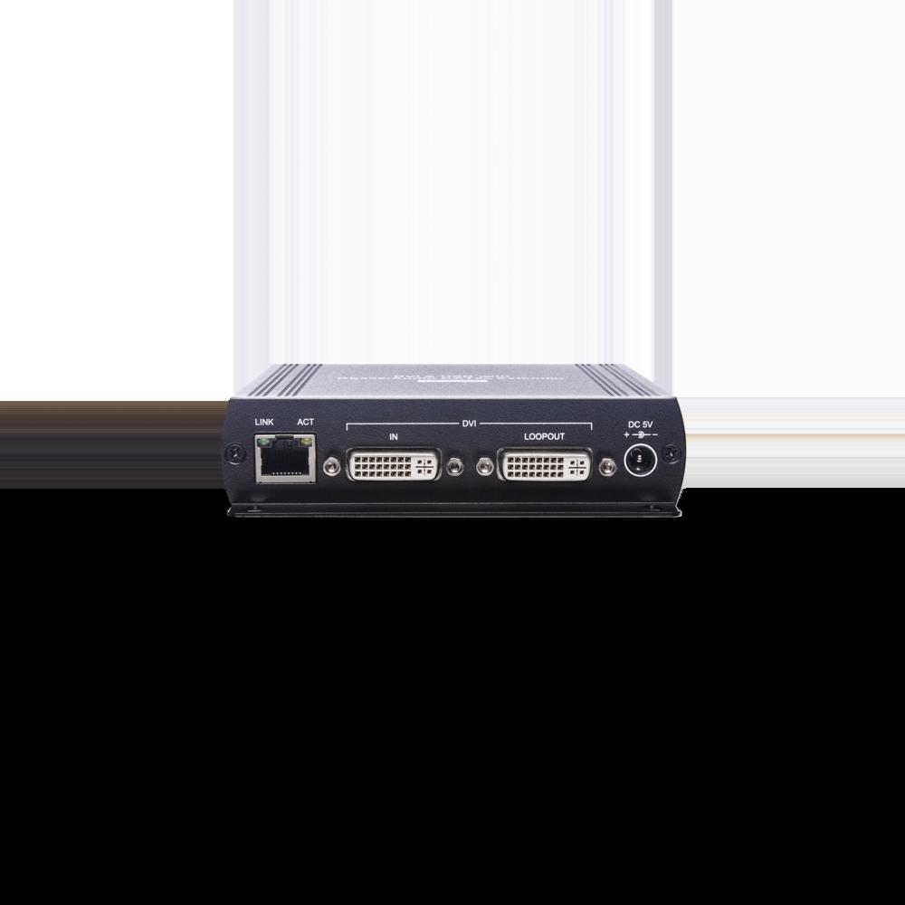 DVI/USB/声音/RS232 KVM CAT5e 延长器