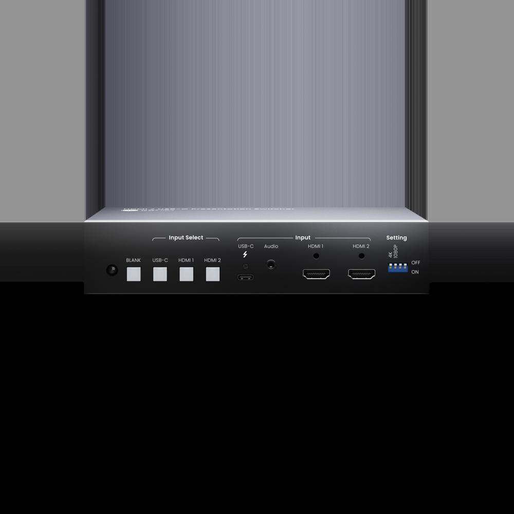 4K 60Hz 3x1 HDMI/ USB-C Presentation Switcher