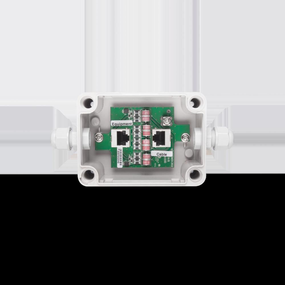 户外型1G PoE 以太网络供电避雷器