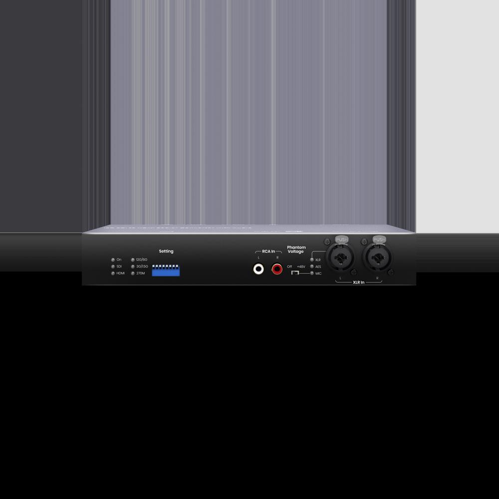 12G-SDI 转HDMI 2.0 影音转换器(搭载声音混合/分离功能)