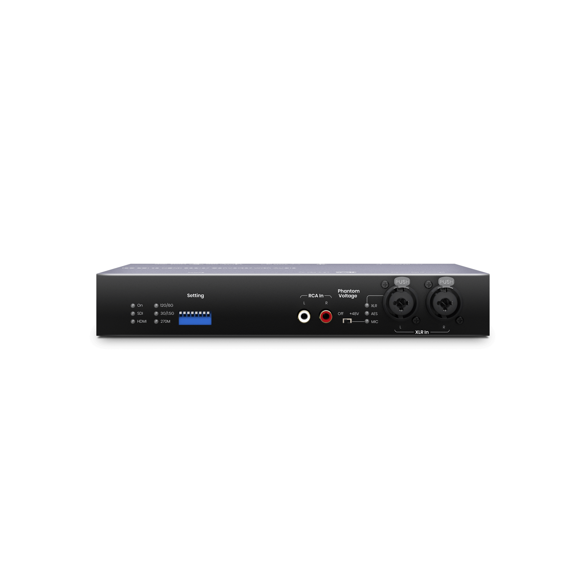 12G-SDI to HDMI 2.0 Converter with Audio Embedder/Extractor