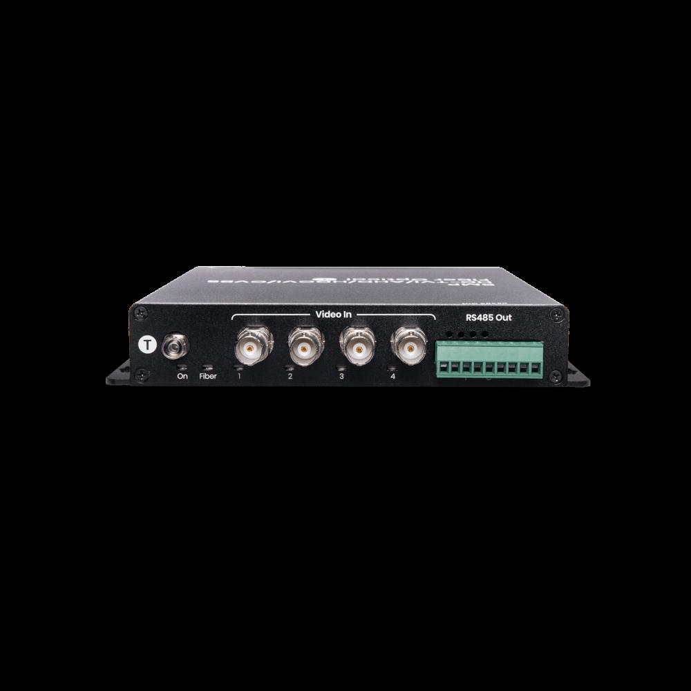 4 埠高清影像及RS485 控制訊號光纖延長器