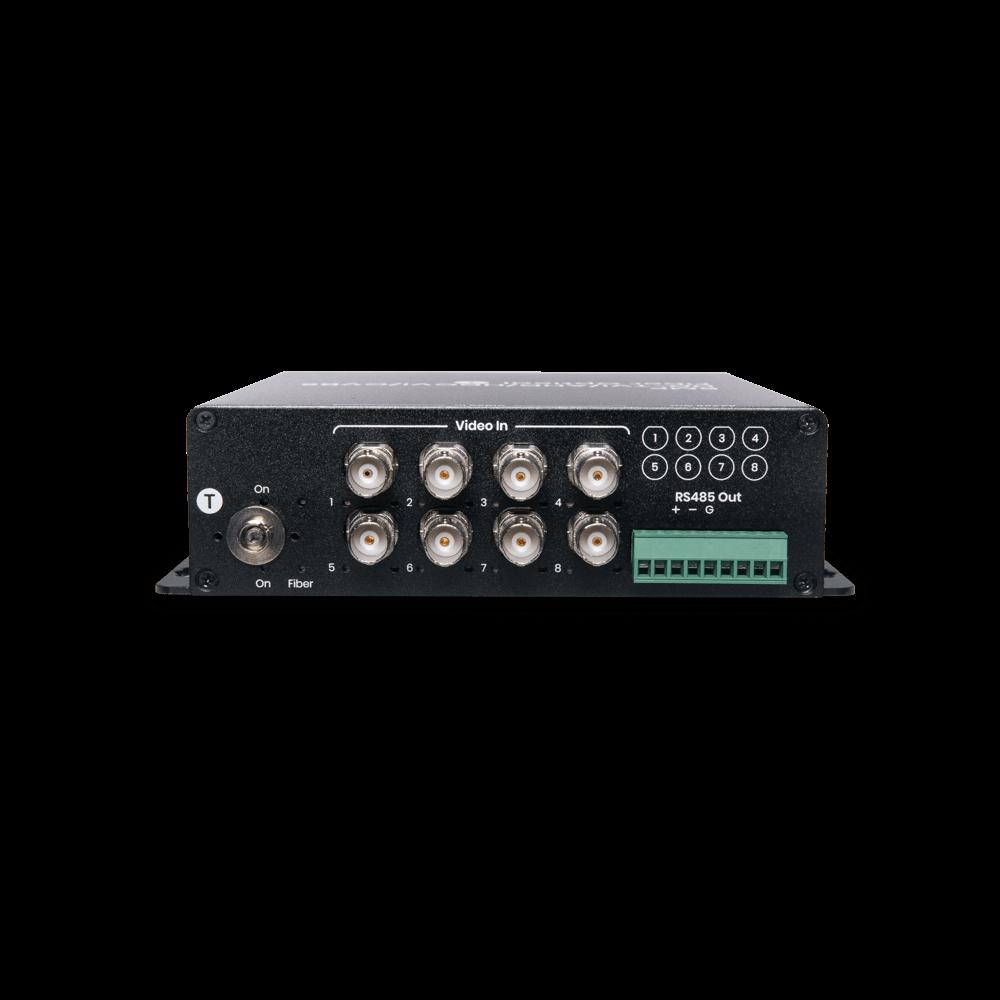 8 埠高清影像及RS485 控制訊號光纖延長器