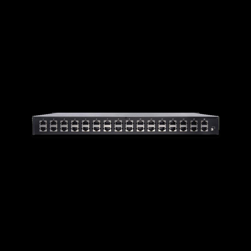 16埠1G PoE 乙太網路供電避雷器
