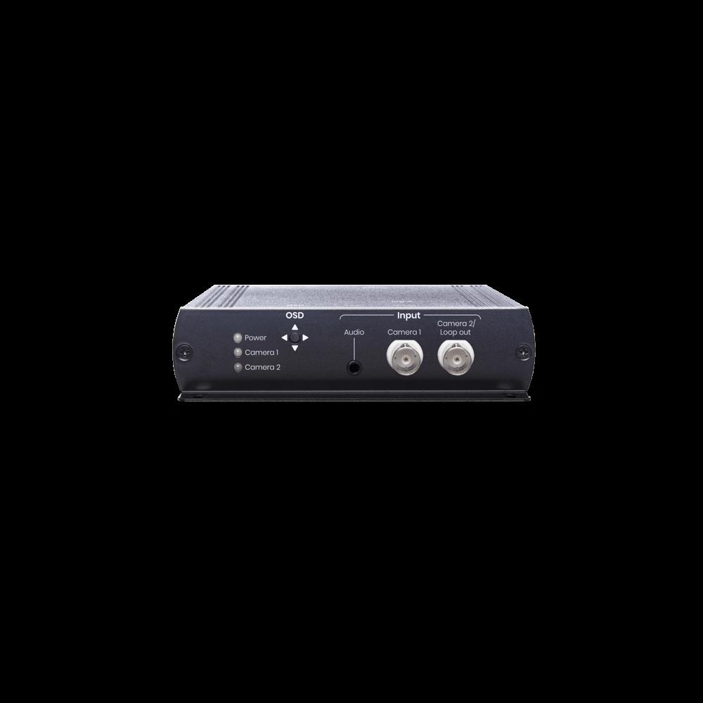 4K HD-TVI/ AHD/ HDCVI/ CVBS to HDMI/ VGA/ CVBS Converter with Loop Out & Audio Embedder