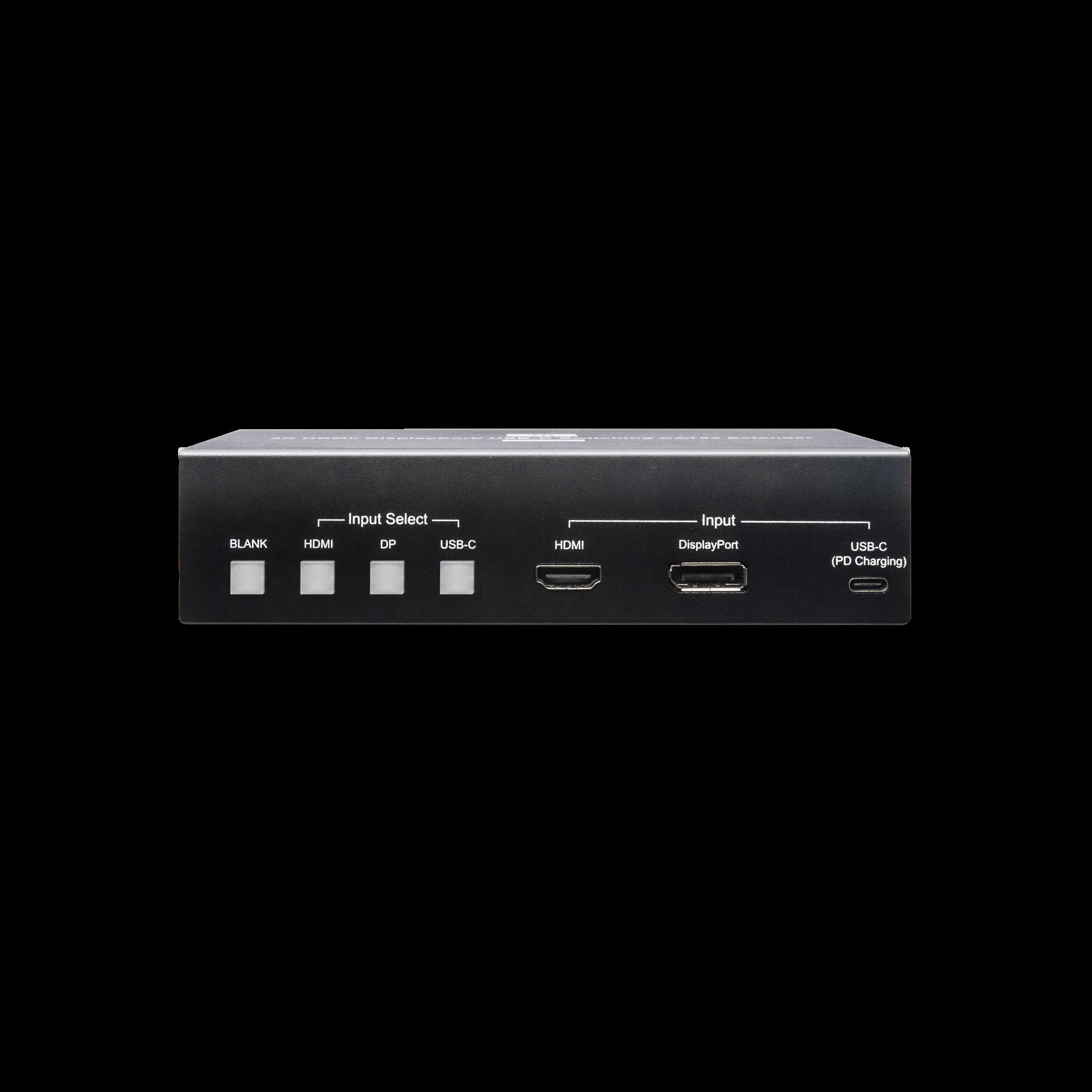 4K 60Hz HDMI/ Display Port/ USB-C 簡報切換延長器
