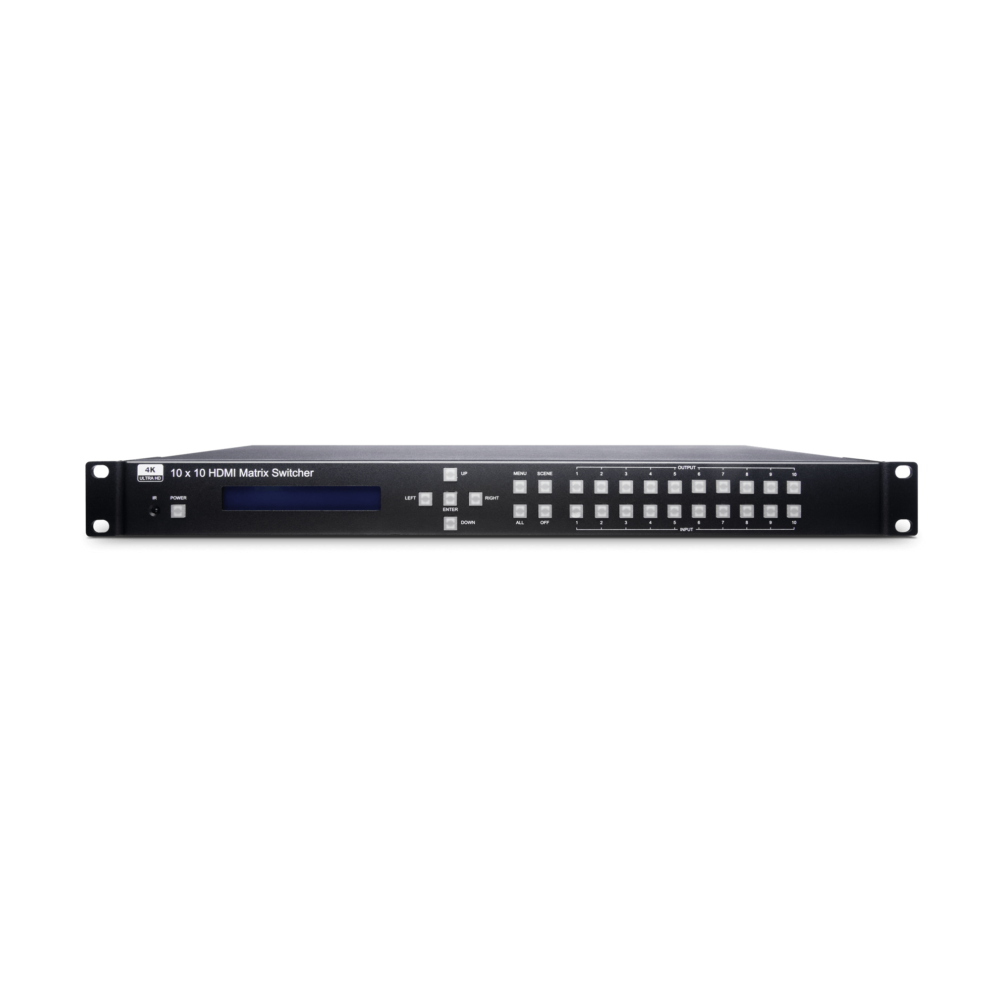 4K60Hz 10 x 10 HDMI Matrix Switcher Built in Audio Extractor