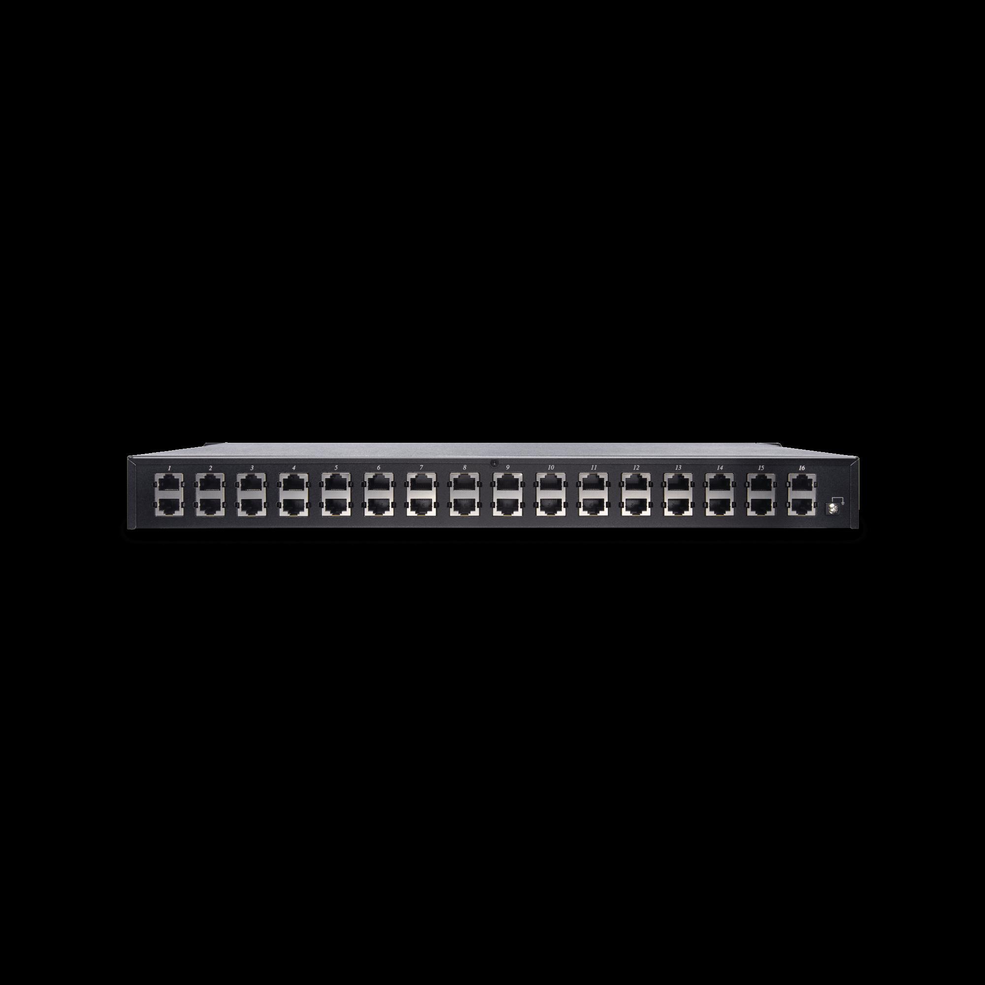 16 Channel PoE Surge Protector in 1U Rack