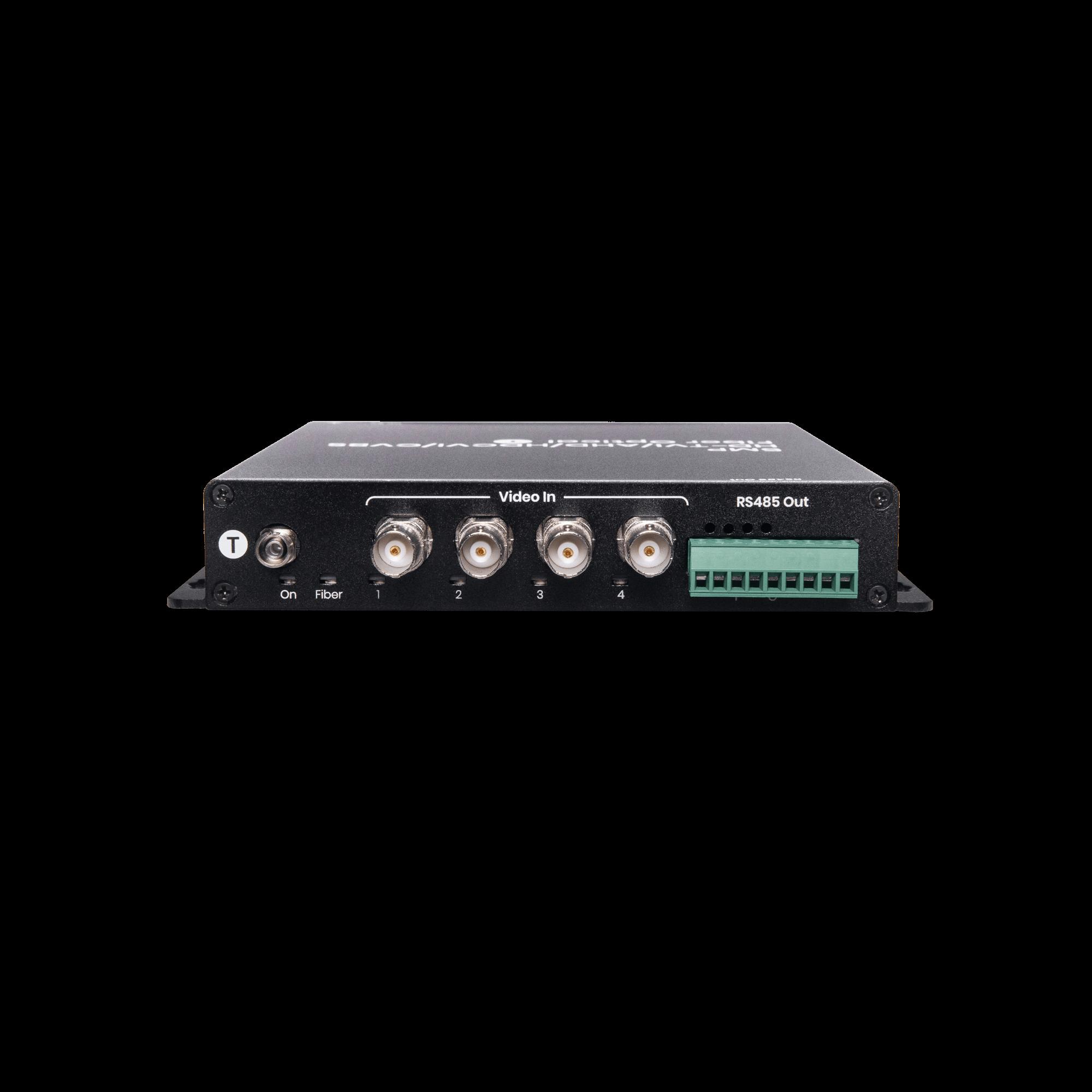 4 Channel HD-TVI/AHD/HDCVI/CVBS with RS485 Fiber Extender 20KM