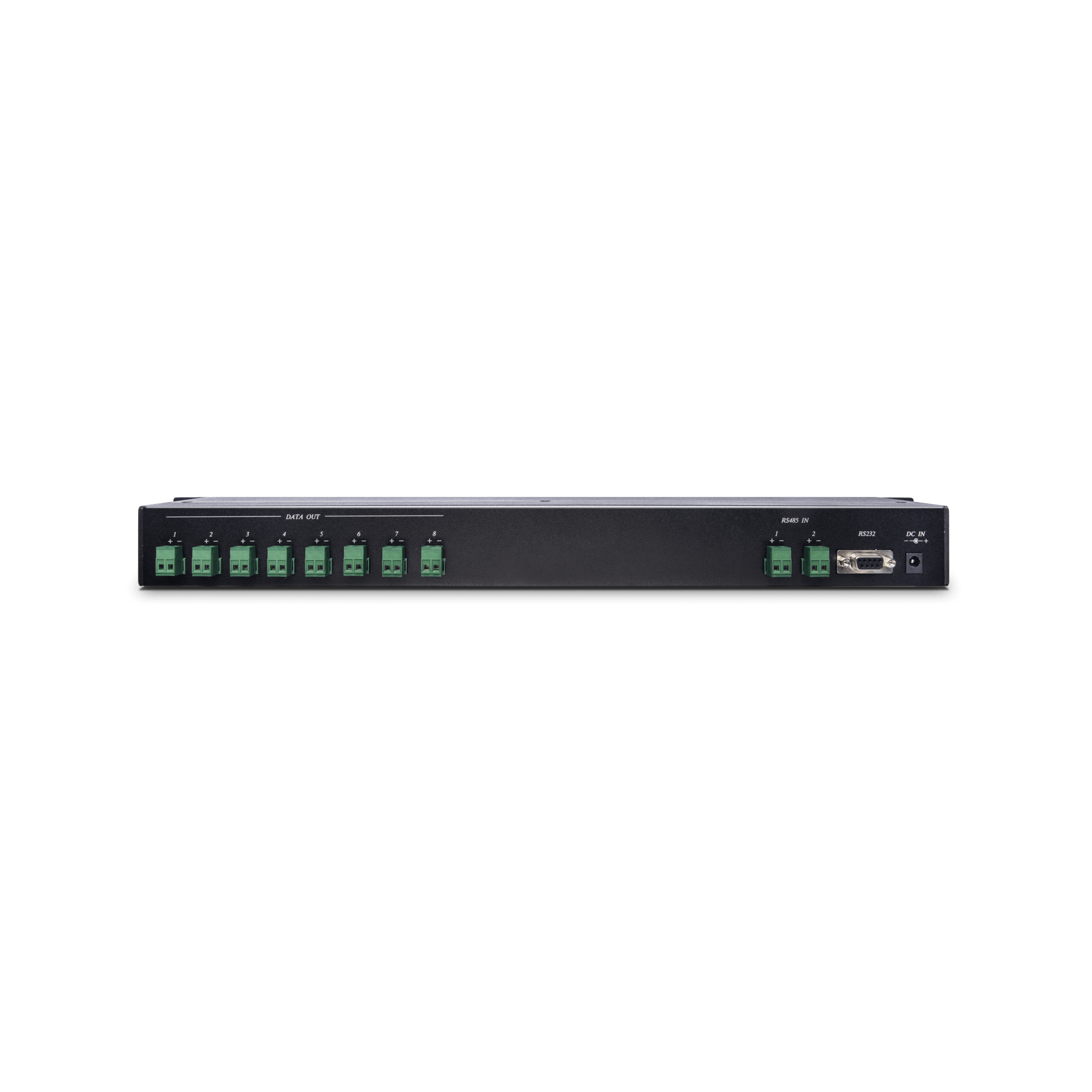 1 x 8 RS485 Serial Data Distributor in 1U Rack