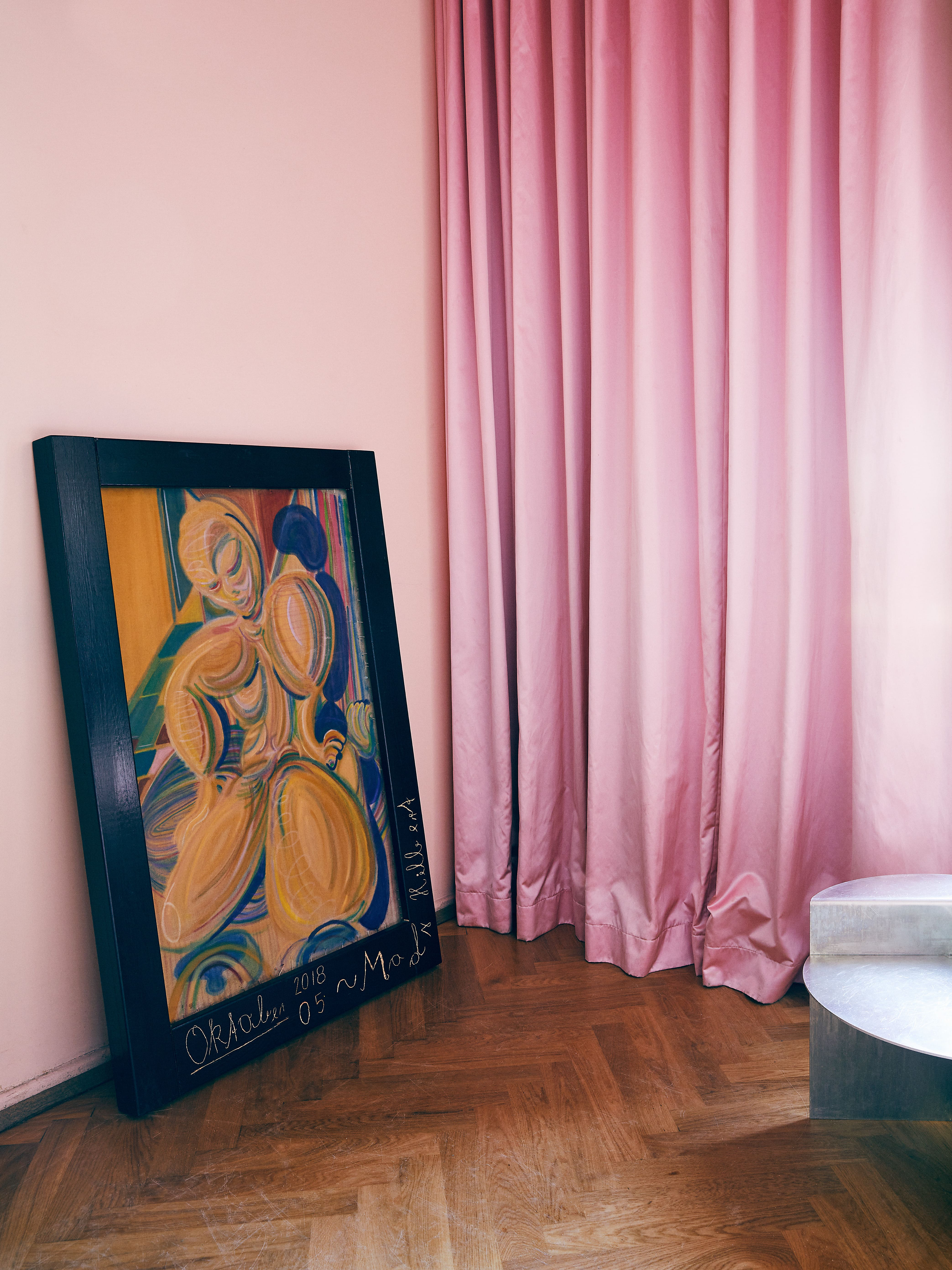 Pink TIBER curtain from Arne Aksel