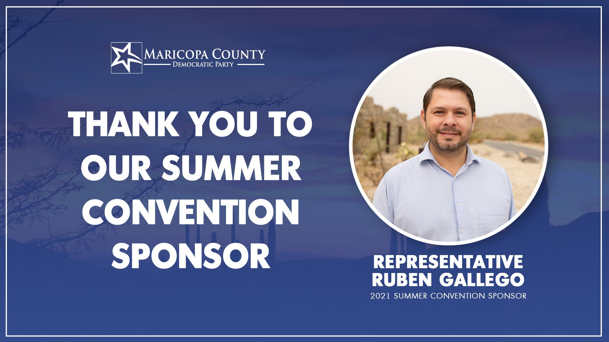 Thank You Representative Ruben Gallego