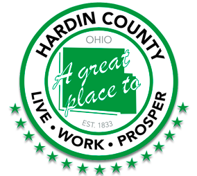 Hardin County Logo: A great place to Live, Work & Prosper