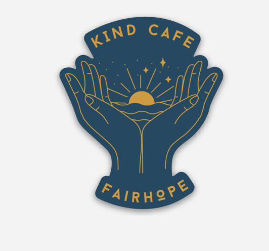 Kind Cafe Denim Sticker