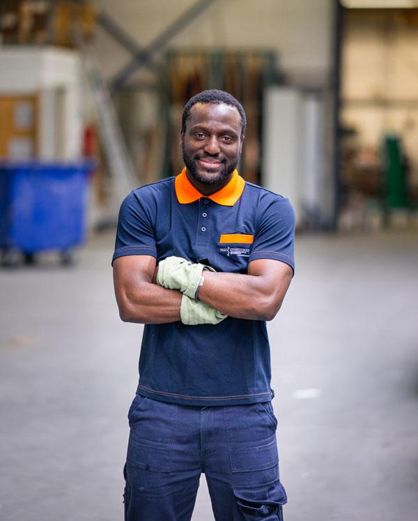 Nambio Zongo werknemer Van Noordenne