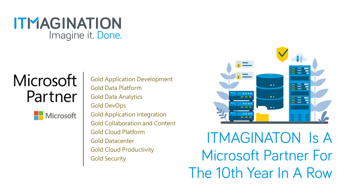 ITMAGINATION is Microsoft's Gold Partner for the 10th year in a row