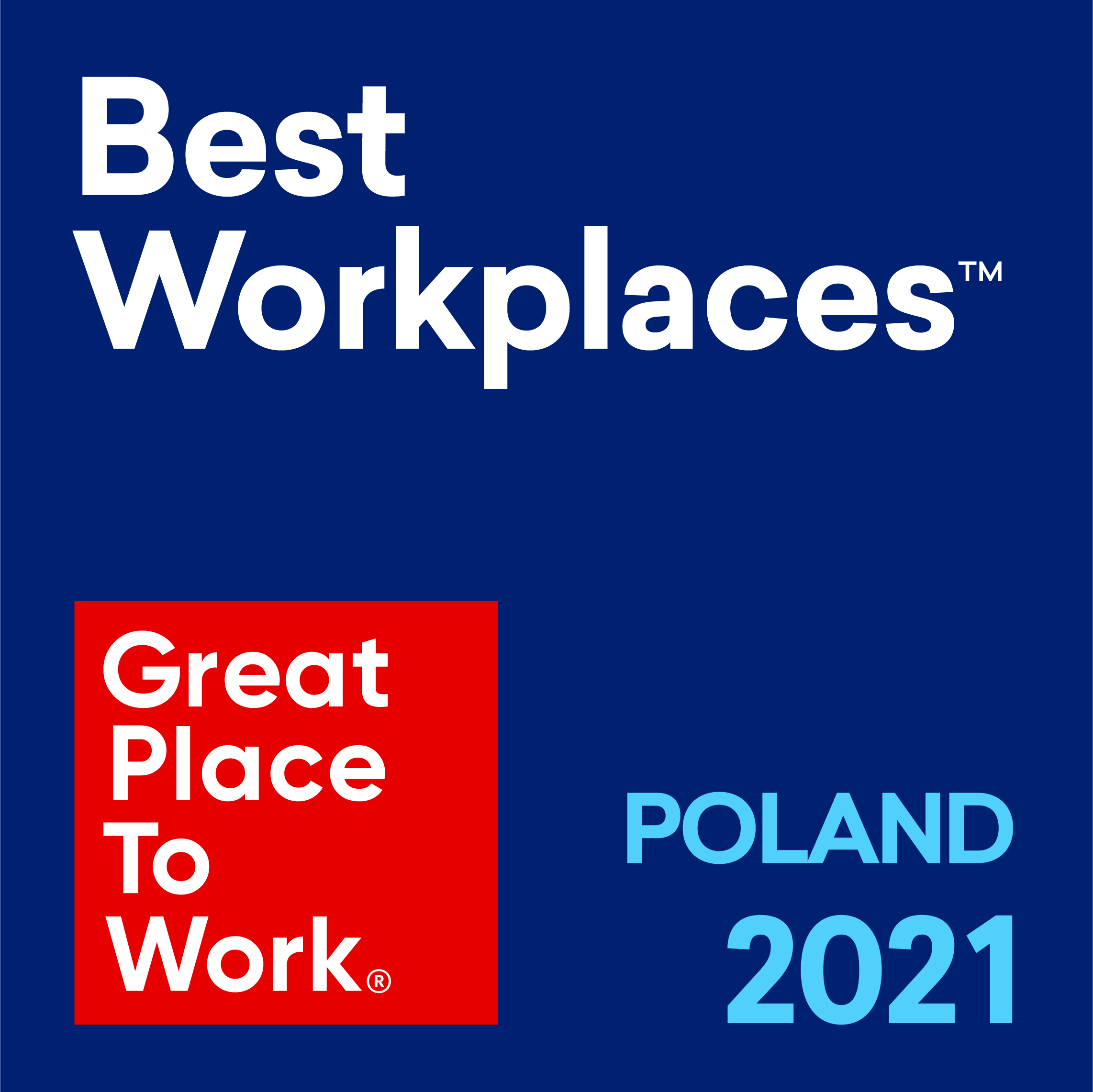 ITMAGINATION Winner Great Place To Work Best Workplaces Poland 2021