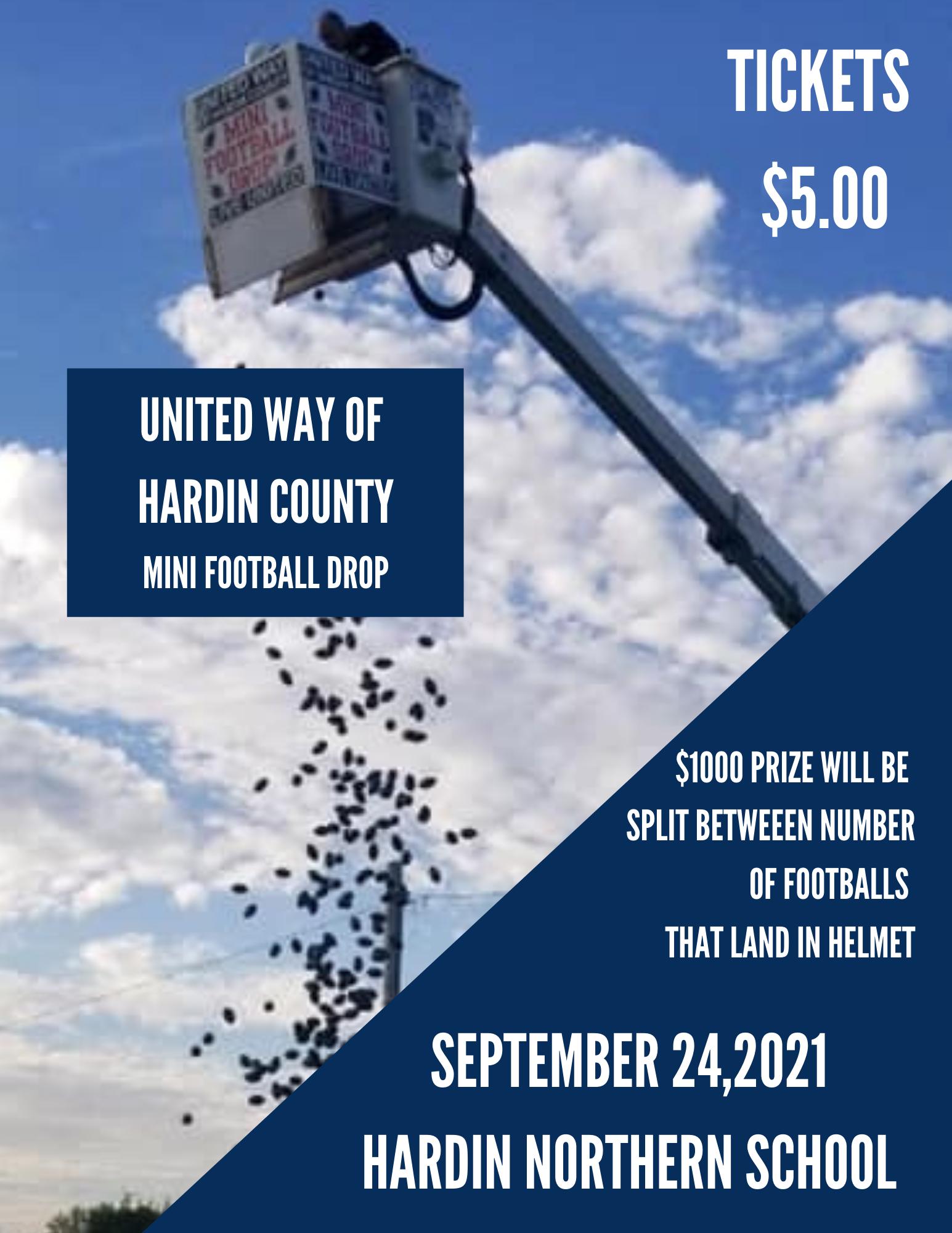 United Way of Hardin County Mini Football Drop