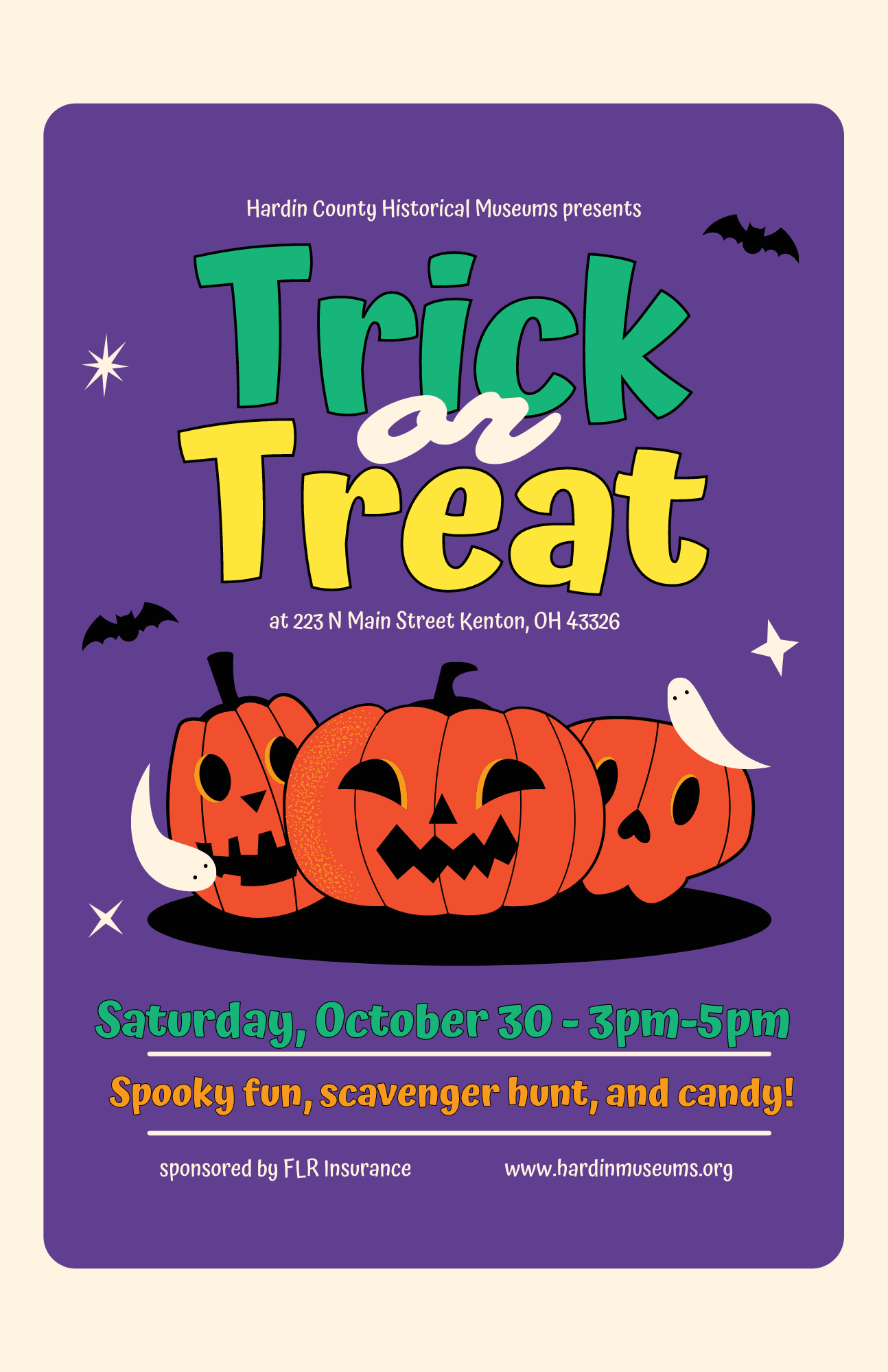 Hardin County Historical Museums Presents Trick or Treat