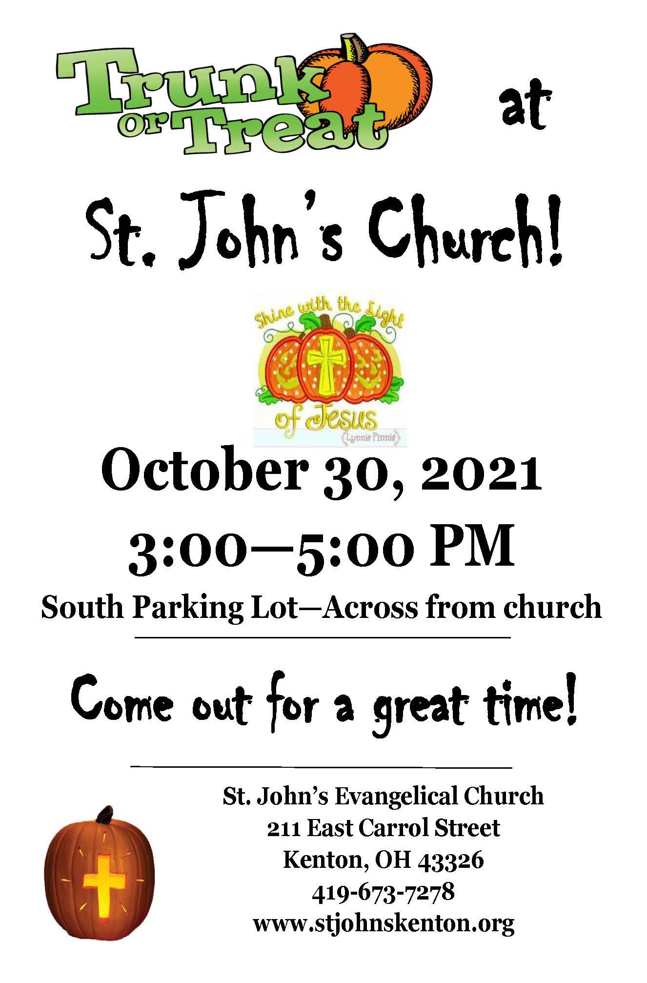 Trunk or Treat at St.John's Church
