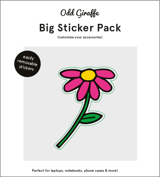 DIMENSIONS • 4.5 IN. X 5 IN. MATERIAL • REMOVABLE STICKER SHEET FEATURES • 1 STICKER • EASY-TO-REMOVE FROM ANY SURFACE WITHOUT LEAVING GLUE MARKS PACKAGING • MARKETING STICKER • PAPER ENVELOPE