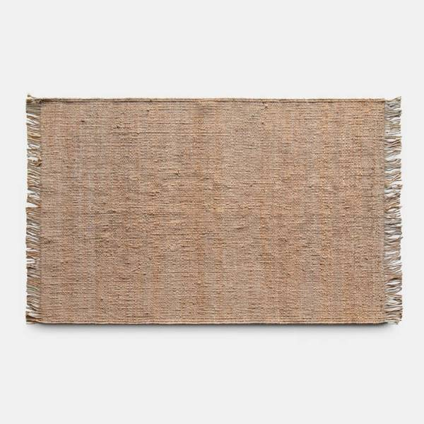 This is a handmade rug out of natural jute from India. Each rug is created by an individual weaver and has its own identity and design / color variation. Made to add a cosiness, natural and laid-back feel to your room's floor and it can be placed in living rooms, kitchen and even bedrooms.