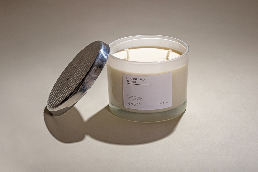 """""""Pure Soy Wax Candle; Burns: 50 Hours How to use: Keep the wicks trimmed. This will give you a nice bright flame. Wicks should be one-fourth inch high this ensures an even and smooth flames. Always light to wicks the candle will burn more evenly and youll use the wax more efficiently. Dip your finger tip in the soy oil whilst it burns.Use the pure soy oil on the back of your wrist, inside of your elbow or side of your neck to improve your sleep quality, to calm your anxiety and boost energy. """""""
