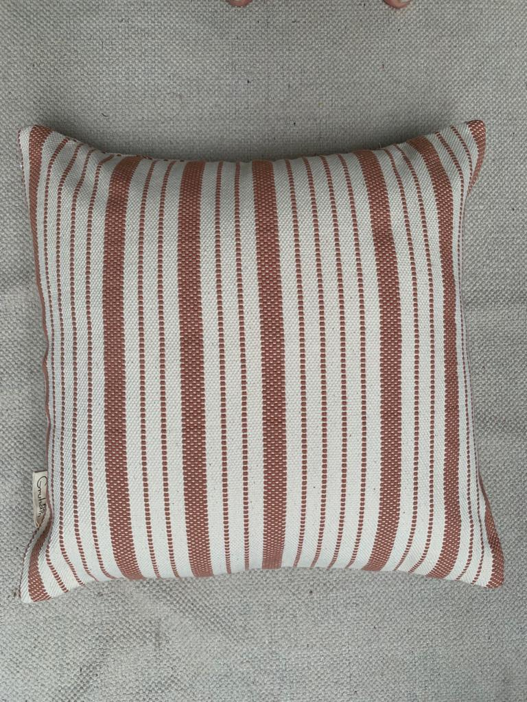 """Add rustic charm to your farmhouse decor with these gorgeous tones of browns and cream/white pillow covers. """"All decorative pillow covers are sewn professionally with finished edges. All seams are over-locked to prevent fraying. However, due to difference in measuring methods, there will be a 1-2 cm size difference which is inevitable. """"YKK Invisible side zipper enclosures for easy removal and cleaning."""