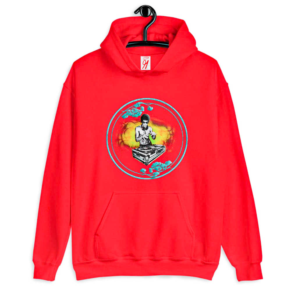 This hooded sweatshirt is perfect to curl up in. Soft smooth and stylish with its bold and flavorful design, it's the perfect piece of luxury casual wear choice for the entire day.   British unisex retail house 91 Apparel was originally founded in 1991. We want you to flow with your magic all the time.   • Art. no. 26   • Loungewear  • Machine wash inside out  • 50% pre-shrunk cotton, 50% polyester  • Double-lined hood with matching drawcord  • Double-needle stitched collar, shoulders, armholes, cuffs, and hem  • 91 APPAREL logo   • Beautiful colors and bold design  • Materials ethically sourced from Spain