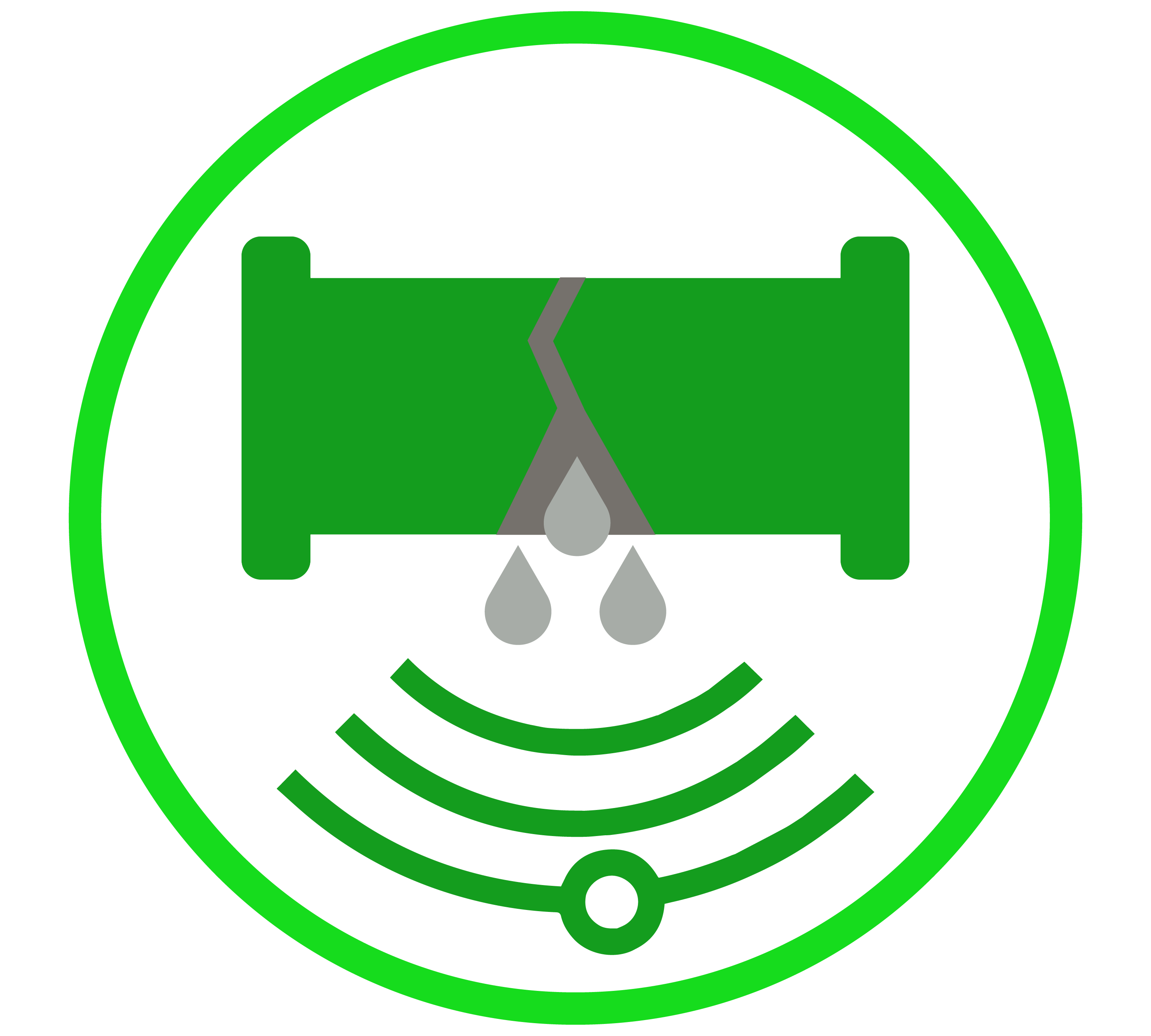 leak detection and fault in cable detection service icon