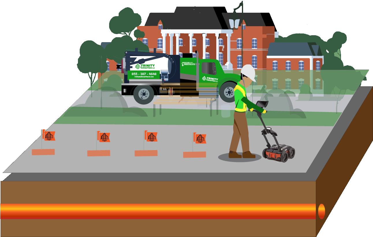 vacuum excavationg diagram step private utility locating