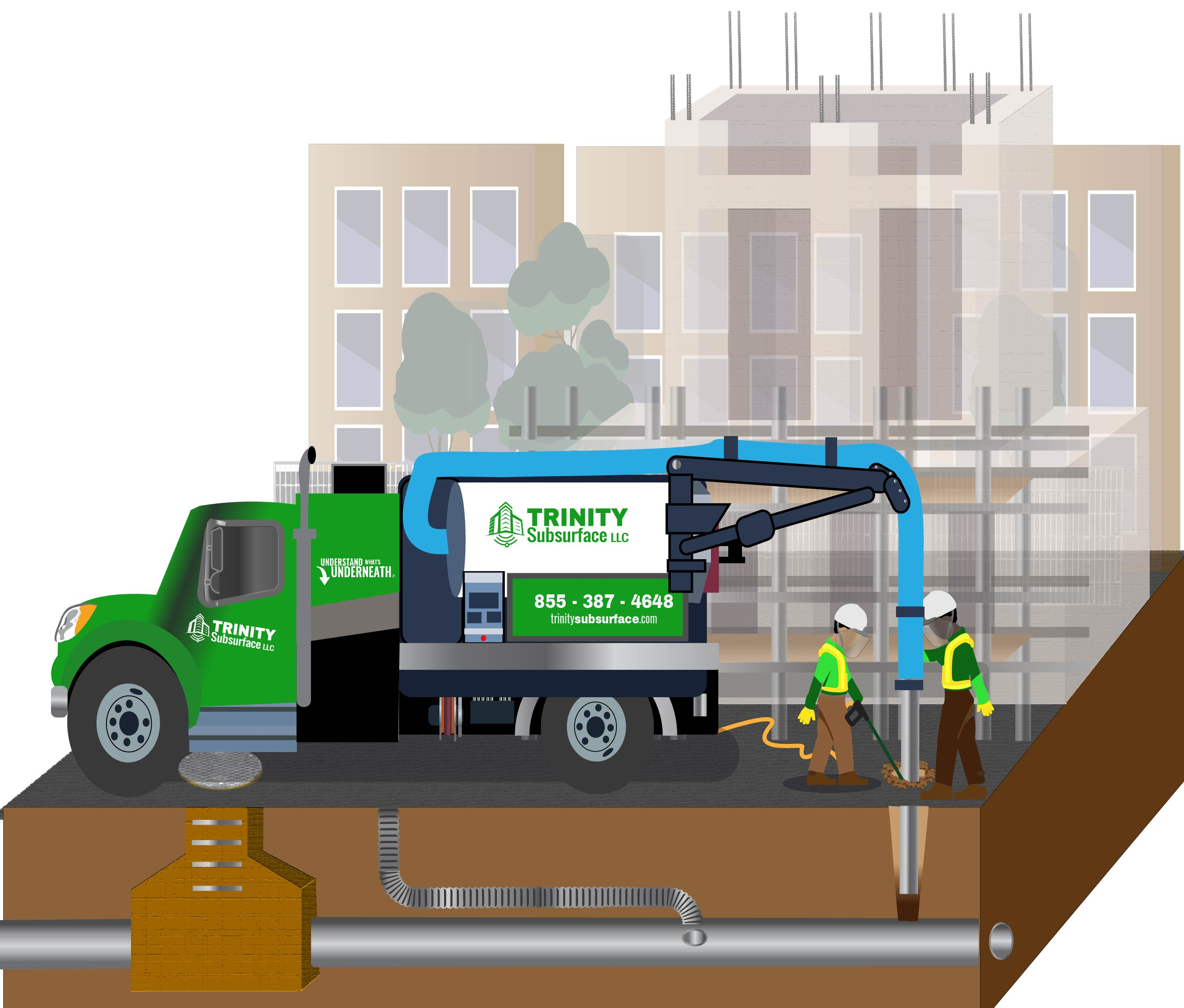 trinity subsurface schedules work in vacuum excavation for engineers in diagram