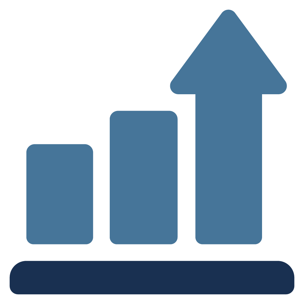graph showing success increasing