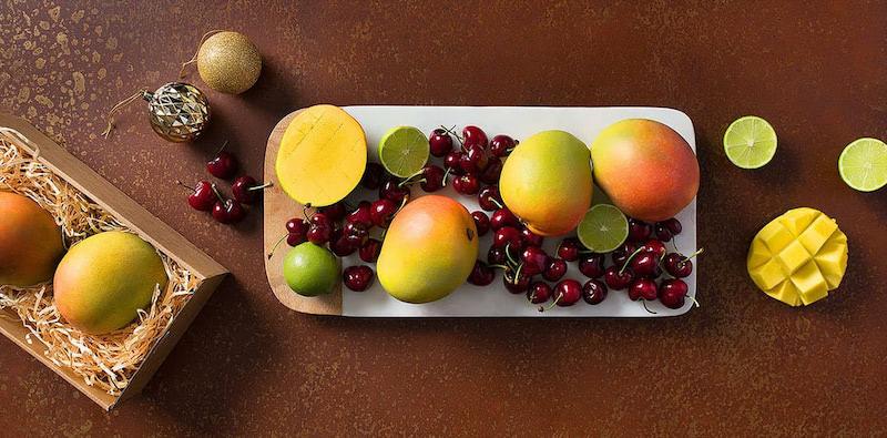 Frische Obstkörbe