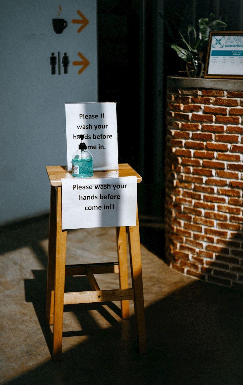 sanitiser on entry