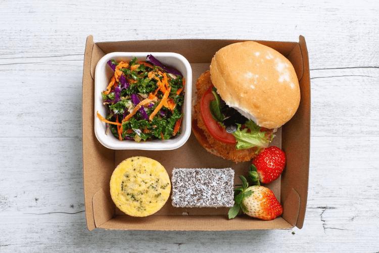 Salat und Sandwich