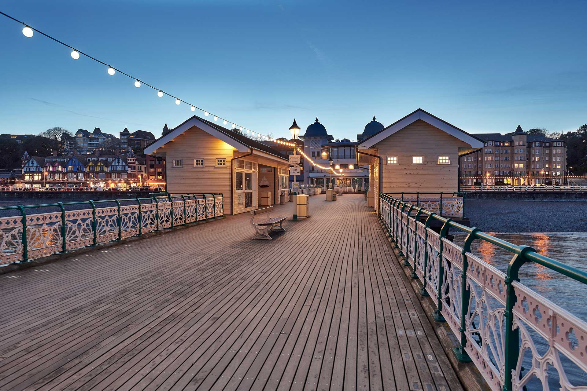 Penarth Pier at night time