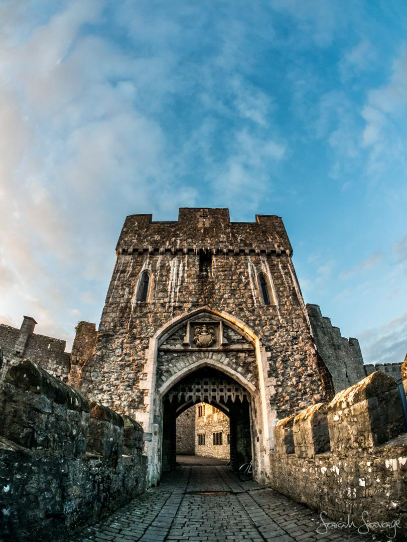 A historic castle entrance