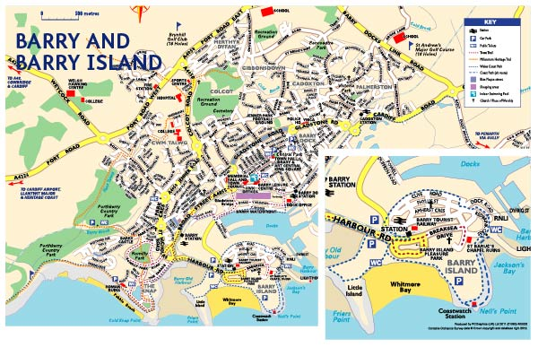 Barry & Barry Island Map