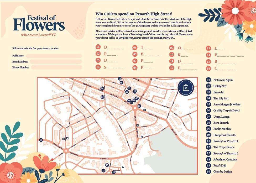 Festival of Flowers - Penarth Map