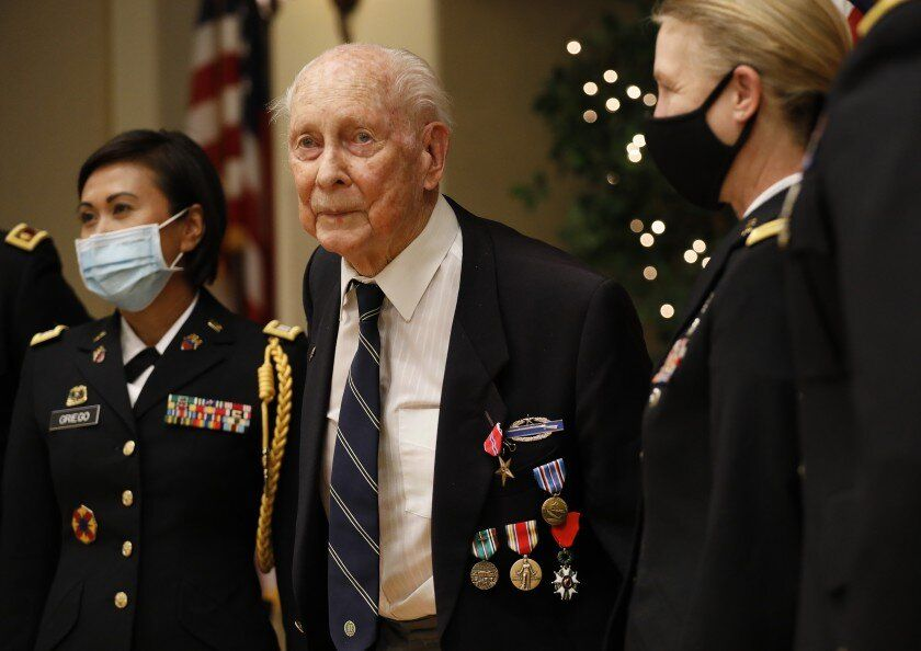 World War II Veteran Eldon Knuth (PhD '54) Awarded Bronze Star